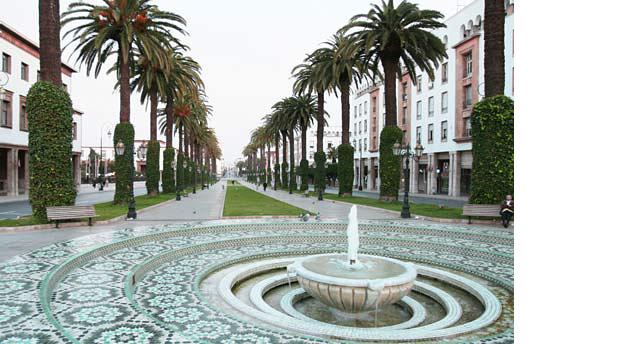 Mosaico marroquino - fonte em Rabat